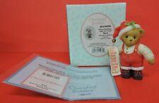 2008 Cherished Teddies Mack Santa W/List Gift/Purch Figurine 4010095