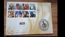 Royal Mail Limited edition 750-Star Wars C3PO Silver Proof Medal/Coin- 446/750