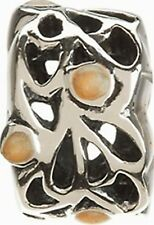 AUTHENTIC CHAMILIA STERLING SILVER ENERGY NA-33 YELLOW GOLD ENAMEL BEAD CHARM