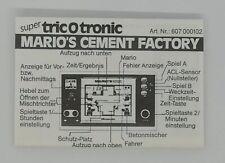 nintendo game&watch Manual