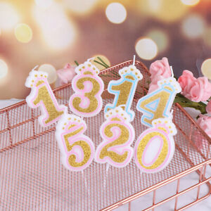 Number Birthday Candles 0-9 Gold Sliver Birthday Candles For Party Decoratio^BI