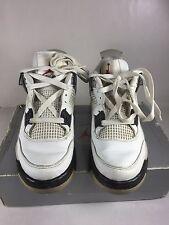 "1999 Nike Air Jordan 4 Retro ""White Cement"" size 8 136013-101"