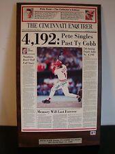 1985 The Cincinnati Enquirer Pete Rose Auto 4,192nd Pete Singles Past Ty Cobb