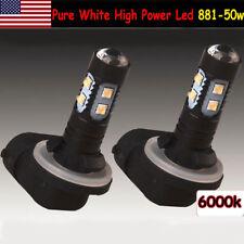 2* High Power Led Fog Driving Lights Bulb 881 862 886 889 894 896 898 White Us(Fits: Neon)