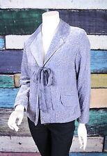 J. Jill Periwinkle Blue Purple Velvet Baroque Embroidered Blazer Jacket SMALL S