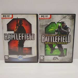 Battlefield 2 (PC, 2005) and Battlefield 2 Special Forces Expansion Pack CIB