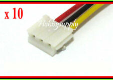 10pcs EH 3-Pin JST Male Connector 30cm wire lead for 2S LiPO Battery Adapter Fan