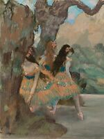 EDGAR DEGAS FRENCH BALLET DANCERS OLD ART PAINTING POSTER PRINT BB5207A