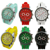 GENEVA Tyre Silicone Band Sports Men's Quartz Watch Wristwatch Wrist Watches New