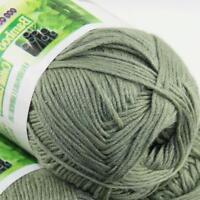 Summer 1Ball x 50g Bamboo Cotton Baby DIY Thread Knitting Crochet Finger Yarn 14
