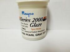 Mayco Series 2000 Ceramic Glaze Vintage 4 Oz. S-2409 Pearl Gray Spec Satin
