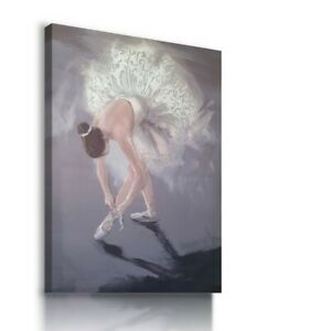WOMAN BALLERINA BALLET GLITTER SPARKLE Canvas Wall Art Picture  B7 MATAGA....