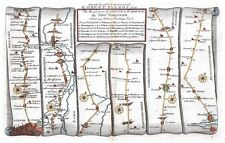 Antico Mappa, la strada da Londra a Barwick PIASTRA 005