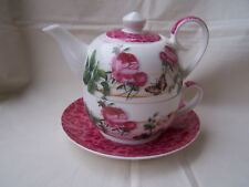 Tea for one aus Brilliantporzellan * Rose weiß + rot * ORIGINAL Jameson & Tailor