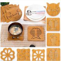 Cute Hollow Wooden Animal Coaster Cup Holder Drink Placemat Tea Heat Anti Mat