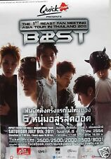 "B2ST ""1st BEAST FAN MEETING TOUR IN THAILAND 2011"" ASIAN PROMO POSTER-KPop Music"