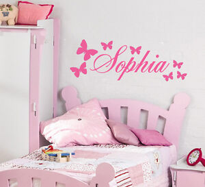 Personalised Butterfly wall sticker with name of choice