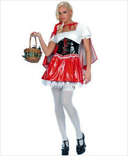 NWT sexy MUSIC LEGS vinyl LITTLE lil RED riding HOOD fairytale STORYBOOK costume