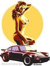 Turbo Sticker Decal Poster Artist Marco Almera MA26