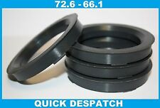 4 X 72.6 - 66.1 ALLOY WHEEL LOCATING HUB SPIGOT RINGS FIT NISSAN ALMERA TINO
