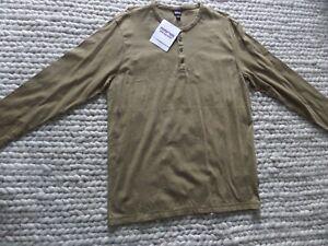 Patagonia Long Sleeve Henley Shirt Large Organic Cotton NWT