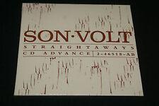 SON VOLT STRAIGHTAWAYS CD ADVANCE 10-TRACK U.S. PROMO CS368 VERY RARE HTF OOP