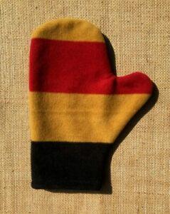 Fleece Coat Shine Glove / Mitt. Newmarket style, other fabrics also available.