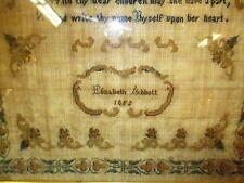 Antique English Hand Done Sampler