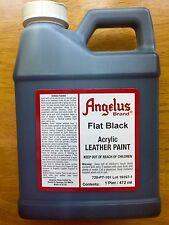 Angelus Flat Black acrylic leather paint 16 oz/ 1 Pint
