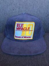 Vtg Kinsmen Telemiracle 1986 Mesh Snap Back Corduroy Hat Canada Saskatchewan