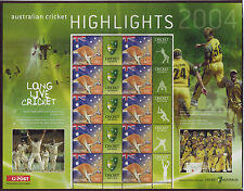 AUSTRALIA 2004 CRICKET HIGHLIGHTS SHEETLET UNMOUNTED MINT, MNH