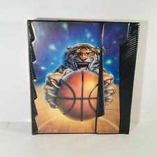 Vintage 1991 Mead Portfolio Notebook No Rules Tiger With Basketball