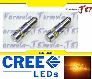 LED Light 50W BAY9s H21W Amber Orange Two Bulbs Park Backup Marker Signal