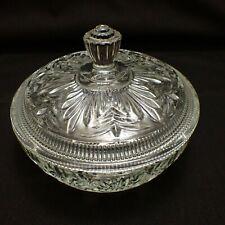 Glass Covered Dish - Food - Bon Bon - Sweetmeats - Vintage - Lolly