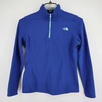 Womens The North Face Blue Athletic Pullover Jacket Size Medium M Fleece 1/4 Zip