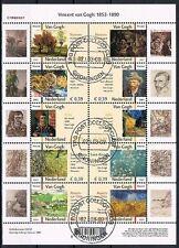Nederland 2142-2151  Vincent v Gogh 2003 gestempeld