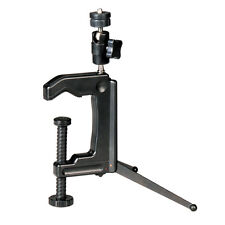 Black Mini Portable Swiveling C-Clamp Tripod Stand for Camera Camcorder DSLR New