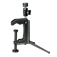 Mini Portable Swiveling C-Clamp Tripod Stand for Camera Camcorder Dslr Black