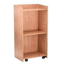 AdirOffice Black Wood Mobile 3 Shelf Presentation Stand Business Lectern
