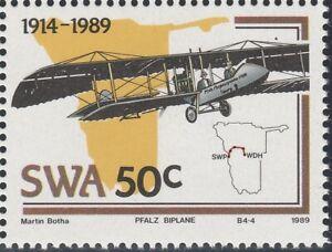 South West Africa (Namibia) 1989 50c Pfalz Otto Biplane (Mint)
