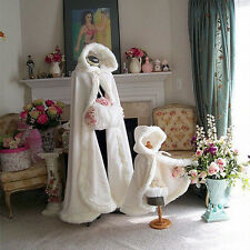 2016 Winter Bridal Cape Faux Fur Christmas Cloaks Jackets Hooded For Winter