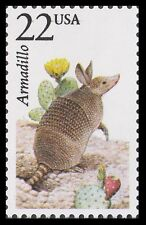 US 2296 North American Wildlife Armadillo 22c single MNH 1987
