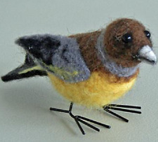 New Pin Felt Needle Felted Greenfinch Collectible Miniature Wild Life Animal