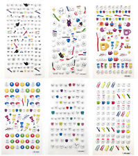 6sheets/1Set 3D Molar Shaped Tooth Bubble Paper Sticker Kids Dental Gift