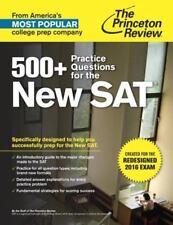 College Test Preparation: 500+ Practice Questions used New Sat by Princeton