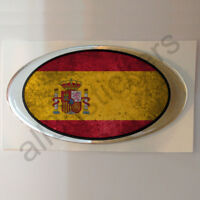 Pegatina España Ovalada Pegatinas Bandera Vieja Adhesivo 3D Relieve Resina