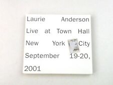 LAURIE ANDERSON - LIVE AT TOWN HALL - 2 CD DIGIPACK NONESUCH 2002 - NM/NM/VG++