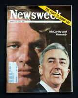 NEWSWEEK MAGAZINE MARCH 25 1968 MC CARTHY AND KENNEDY