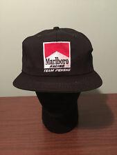 Vintage Marlboro Racing Team Penske Black Snapback Hat Cap New