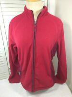 Merona, Women's, Size Medium, Full Zip, Red/Rust Red, Fleece/Jacket